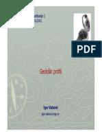 Geological profiles