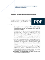 Incident / Accident Reporting and Investigation