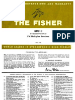 Fisher 500c Operations Manual