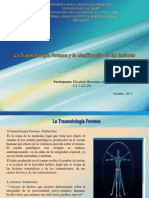 LA TRAUMATOLOGÍA FORENSE Y LA CLASIFICACIÓN DE LAS LESIONES.pptx