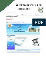 TUTORIAL  DE MATRICULA POR INTERNET Y VERIFICACION DE MATRICULA.pdf