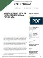 Cara Membuat Isian Data Di Excel Menggunakan Fungsi VBA