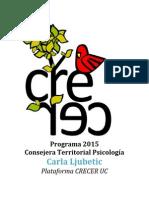 Programa Consejera Territorial 2015 Carla Ljubetic