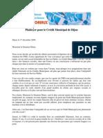 Plaidoyer pour le Crédit Municipal de Dijon