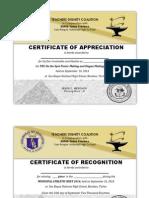 Certificate of Recog