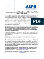 Ems Checklist Ebola Preparedness