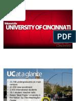 University of Cincinnati Admissions PowerPoint