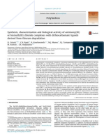Synthesis, characterization and biological activity of antimony(III)