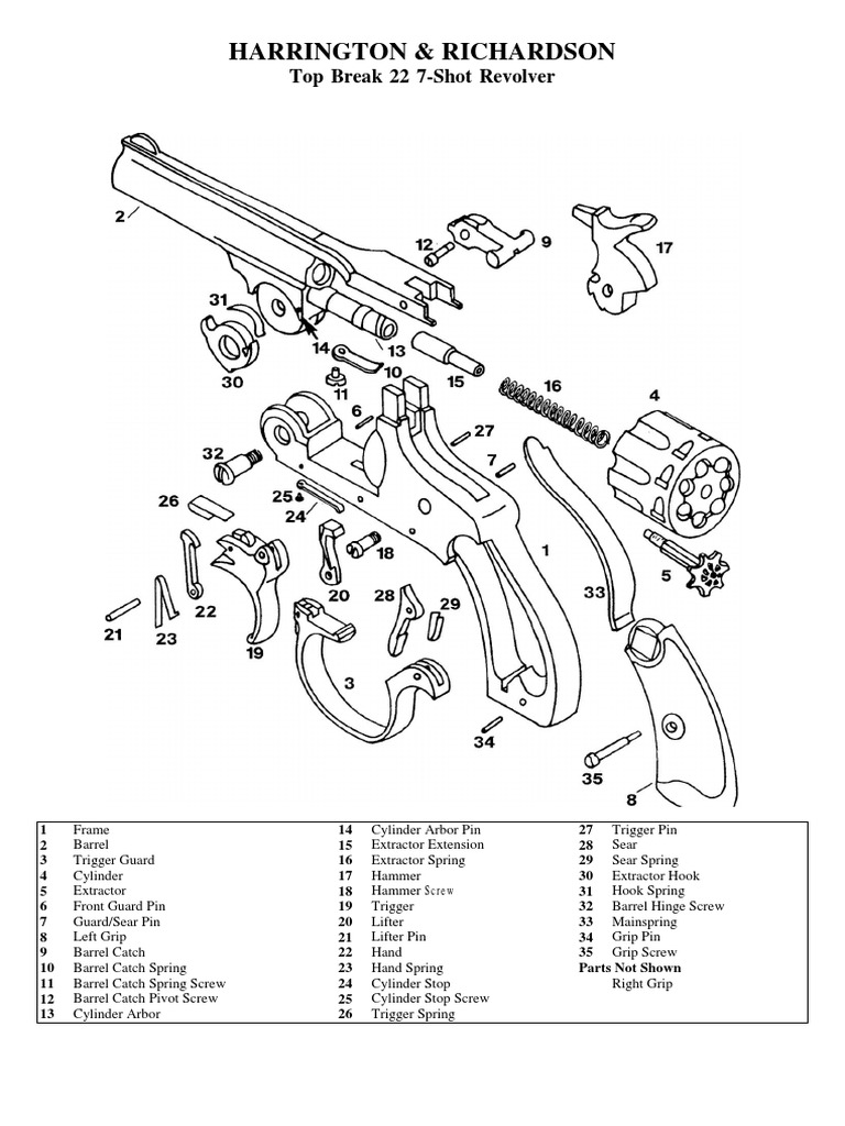 22 7 shot h and r break top revolver html