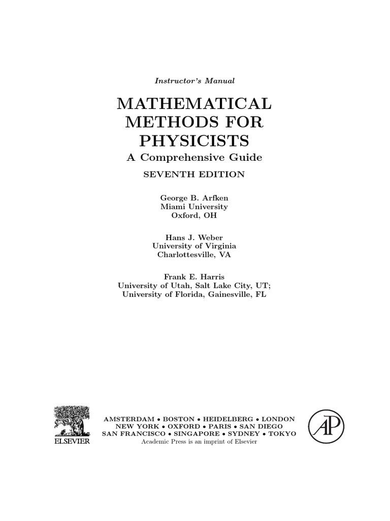 arfken solutions manual 7th ed pdf determinant summation rh scribd com Physics Problems Temperature Physics