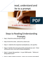 Reading Prompts - Honors