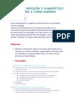 PROYECTO REVISIÓN Y DIAGNÓSTICO 3º 2014 mañana.doc
