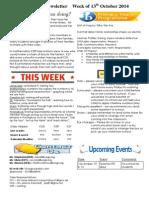 newsletter week of 131014