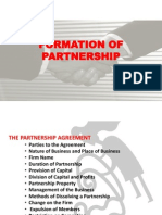 Formation of Partnership