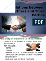 Relations Between Partners and Third Parties