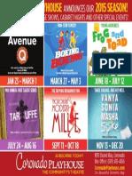 Coronado Playhouse 2015 Season