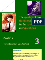 costas levels of questioning