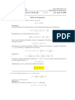 Corrección Primer Parcial, Semestre I06, Cálculo III