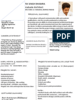 Architect's job resume