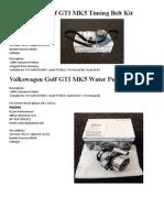 Volkswagen PASSAT B6 Timing Belt Kit.docx
