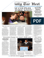 The Daily Tar Heel for Oct. 13, 2014