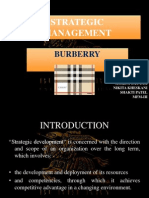 Burberry Strategic management