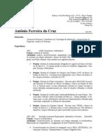 Curriculo de Antonio Ferreira
