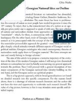 Ghia Nodia - Components of the Georgian National Idea