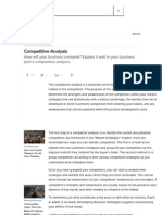 Competitive Analysis -- Httpwww.entrepreneur.comarticle25756