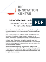 Britain's Manifesto for Growth 2014
