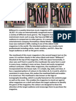 billboard front cover analysis - pink