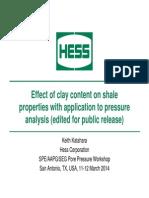 Katahara ClayEffects PressureWorkshop2014 Edited for Release to SPE