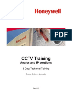 Honeywell-cctv Training Agenda