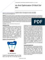 Kinematic Analysis and Optimization of Multi Dof Parallel Manipulator