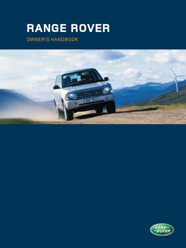 Range Rover Owners Handbook (2004)   Airbag   National Highway Traffic  Safety Administration