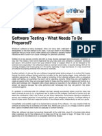 Software Testing - What Needs to Prepared