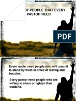 Types of People Every Pastor Need