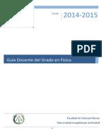 Guía docente 2014/15 Físicas UCM
