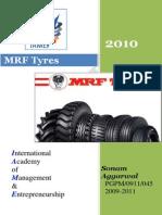 32323178 Company Profile Mrf Tyres