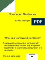 compound sentences power point