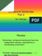 compound sentences 2 power point
