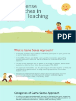 game sense approaches in primary teaching