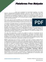 MANIFIESTO DE LA PLATAFORMA FREE MAHYUBA