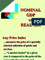 Nominal v Real GDP
