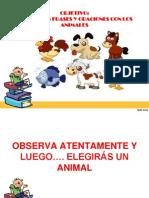 ESCRITURA DE FRASES Y ORACIONES CON LOS ANIMALES.ppt