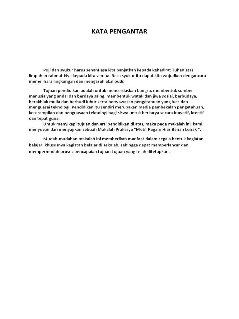Kata Pengantar Prakarya Docx