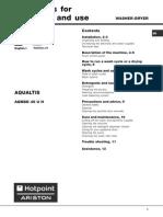 Ariston Aqualtis User Manual