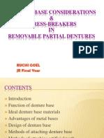 Denture Base and Stress Breaker in Rpd