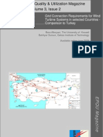 Grid Connection Requirements for Wind Turbine Systems in some Countries Comparison to Turkey