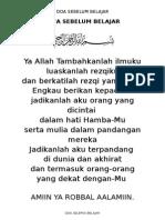Doa Belajar